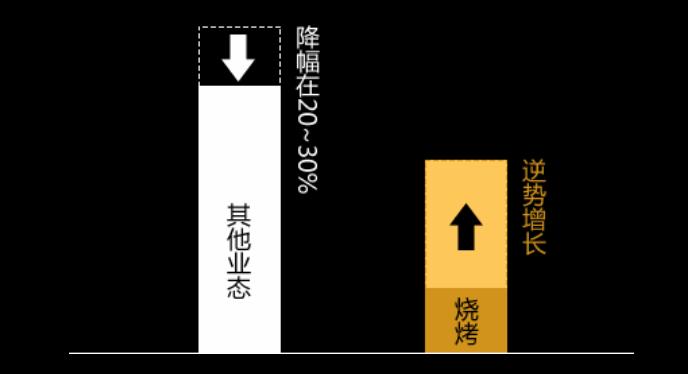 烧烤品类增长柱状图